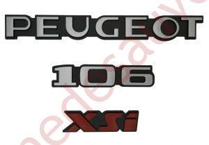"KIT-3-LOGOS-""-PEUGEOT-106-XSI-""-ROUGE-MONOGRAMME-POUR-PEUGEOT"