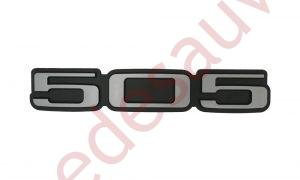"LOGO-""-505-""-GRIS-MONOGRAMME-POUR-PEUGEOT-TURBO-INJECTION-SR-TD-GTI"
