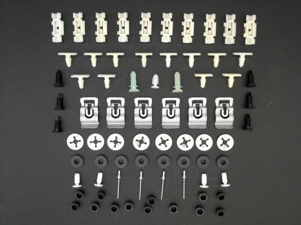 KIT-COMPLET-DAGRAFES-EXTENSIONS-LISERÉS-MOULURES-POUR-PEUGEOT-205-GTI-CTI