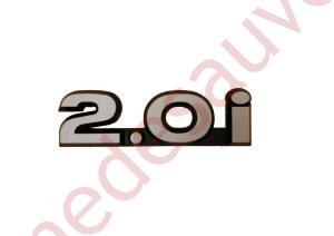 """LOGO """" 2.0i """" POUR CITROËN ZX 2.0 16V GRIS PHASE 1"""