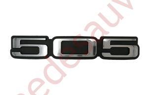"""LOGO """" 505 """" CHROMÉ MONOGRAMME POUR PEUGEOT TURBO INJECTION SR TD GTI"""