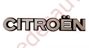 """LOGO-""""-CITROËN-""""-GRIS-MONOGRAMME-POUR-CITROËN-ZX-2.0-16V-AX-GTI"""