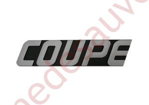 "LOGO "" COUPE "" GRIS RENAULT SUPER 5 GT TURBO"