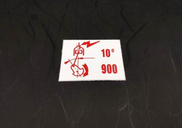 AUTOCOLLANT DÉBITMÈTRE 1.9 1900 PEUGEOT 205 GTI 10°-900 BOSCH - 0 280 202 109