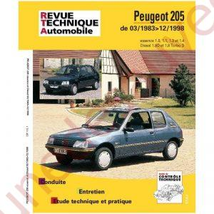 REVUE TECHNIQUE AUTOMOBILE RTA PEUGEOT 205 GTI TD D ESSENCE DIESEL 83 - 98