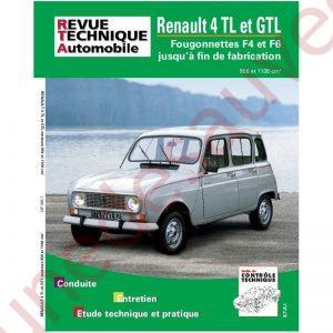 REVUE TECHNIQUE AUTOMOBILE RTA RENAULT 4 TL ET GTL F4 F6