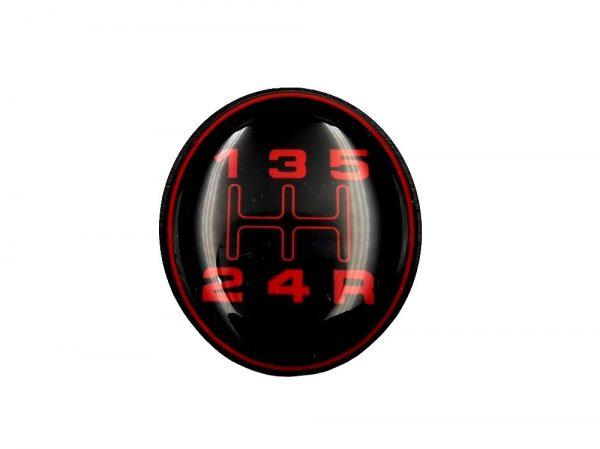 PASTILLE BE3 LISSE ROUGE POUR POMMEAU DE LEVIER DE VITESSE POUR PEUGEOT 309 205 GTI CTI RALLYE ET AUTRES MODÈLES