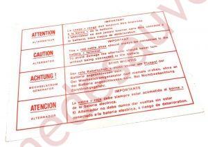 AUTOCOLLANT STICKER DE COMPARTIMENT MOTEUR BATTERIE - COSSES POUR PEUGEOT 309 205 GTI CTI GTI 16 RALLYE