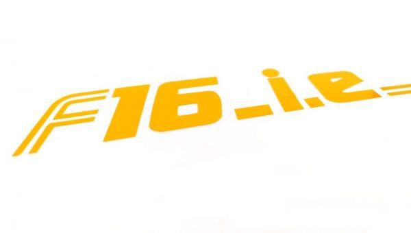 AUTOCOLLANT - STICKER F16-I.E POUR CACHE MOTEUR DE RENAULT CLIO 16S - WILLIAMS
