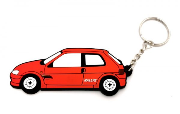 PORTE-CLEFS PEUGEOT 106 RALLYE PHASE 2 ROUGE TALBOT SPORT - PTS